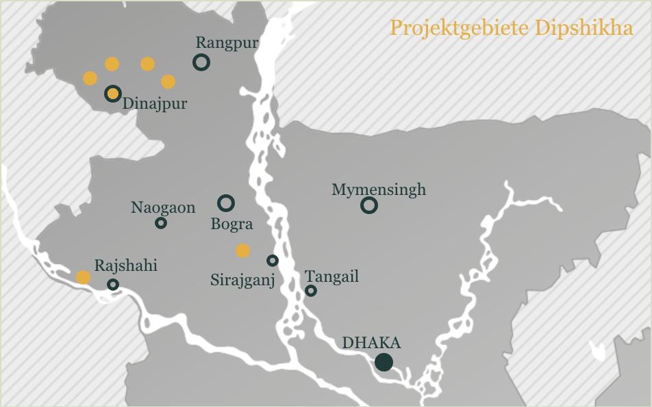 Projektgebiete DIP